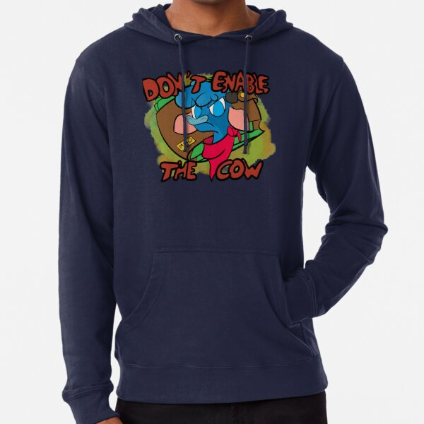 Don't enable the cow (DPZ version) Lightweight Hoodie