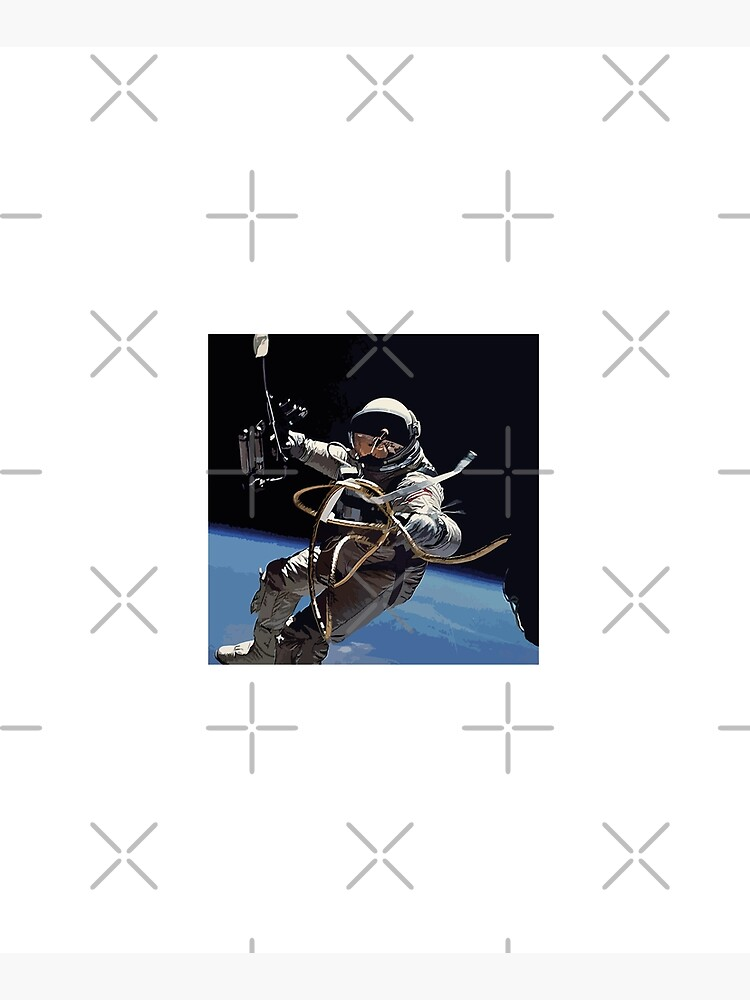 Astronaut Ed White's Spacewalk Colour Vector Art by tribbledesign