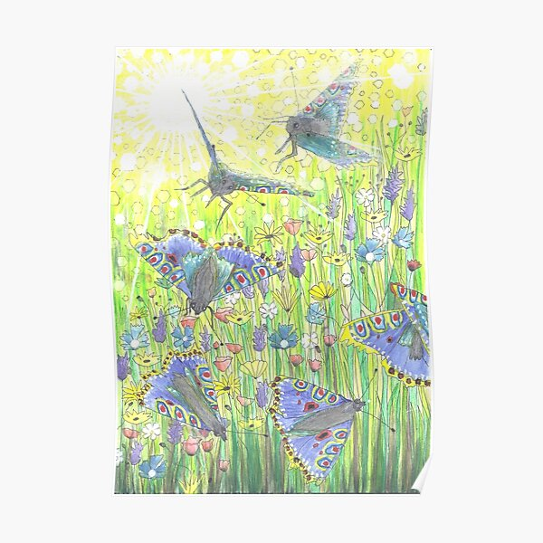 Fly-by Butterfly Poster