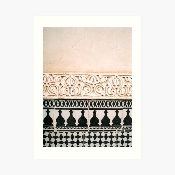 Arabic tiles in Sevilla | Ahambra photography art | Colorful photo print | Morocco Marrakech Art Print