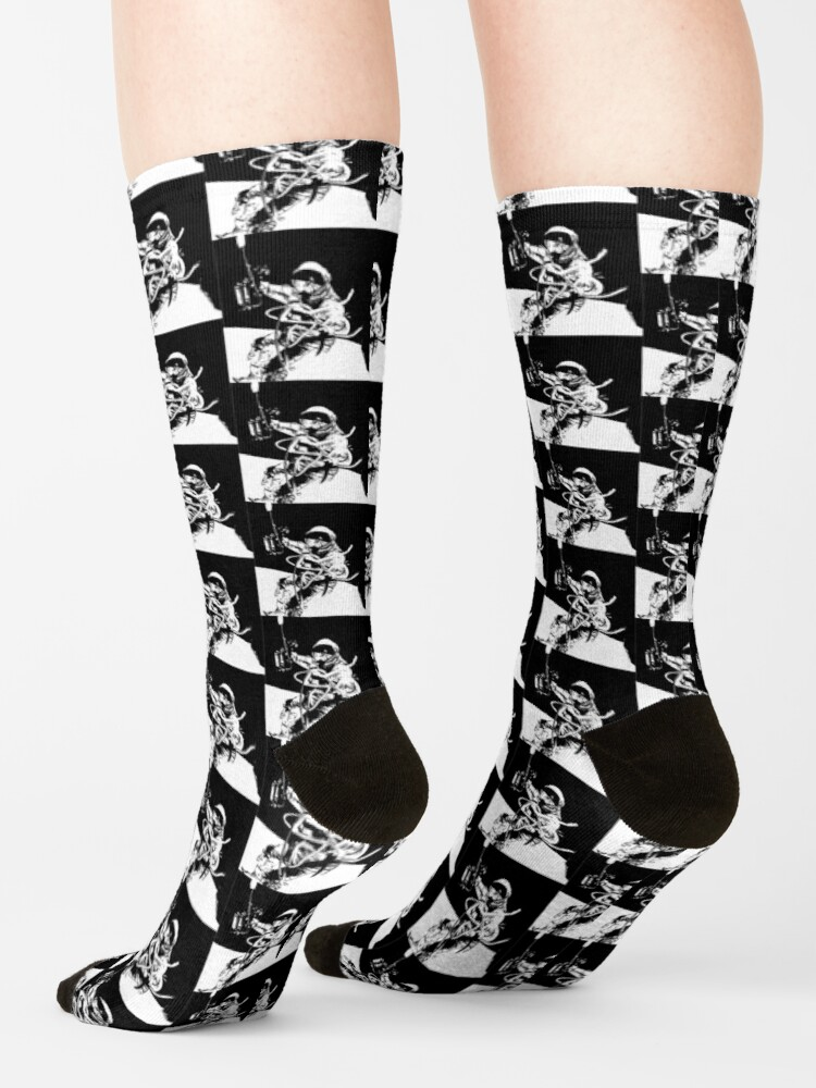 Alternate view of Black and White Vector Astronaut Ed White's Spacewalk Socks