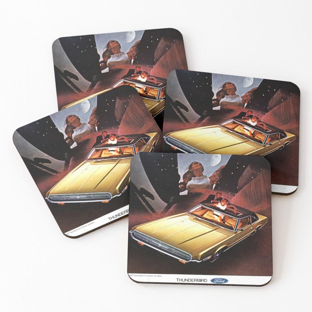 Ford Thunderbird ad 1969  Coasters (Set of 4)