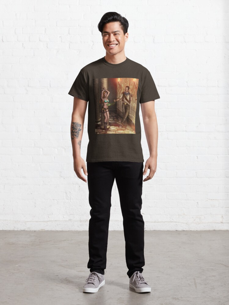 Alternate view of Tickling Feather Egyptian Tomb Classic T-Shirt