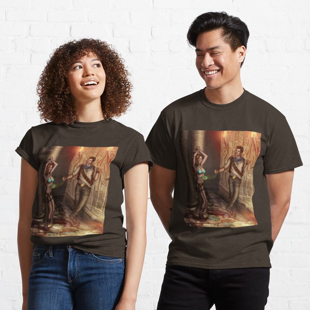 Tickling Feather Egyptian Tomb Classic T-Shirt