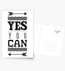 Inspirational motivational quote Postcards