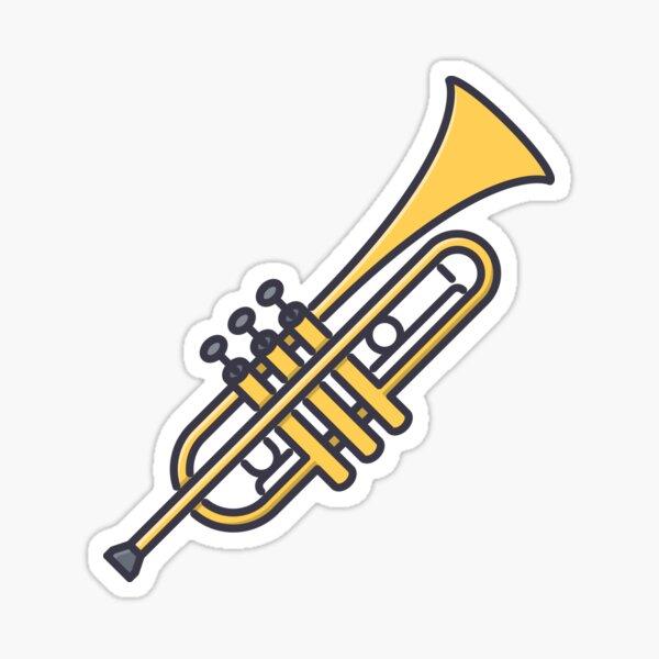 Trumpet Sticker Sticker