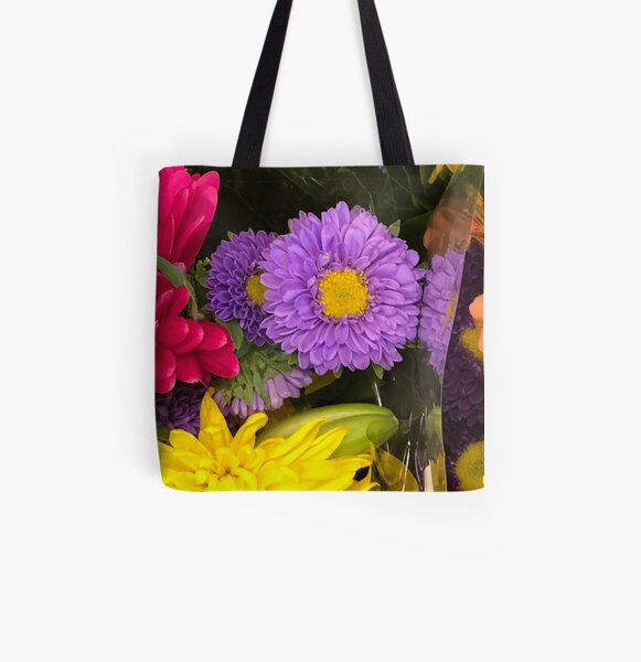 Purple flowers  All Over Print Tote Bag