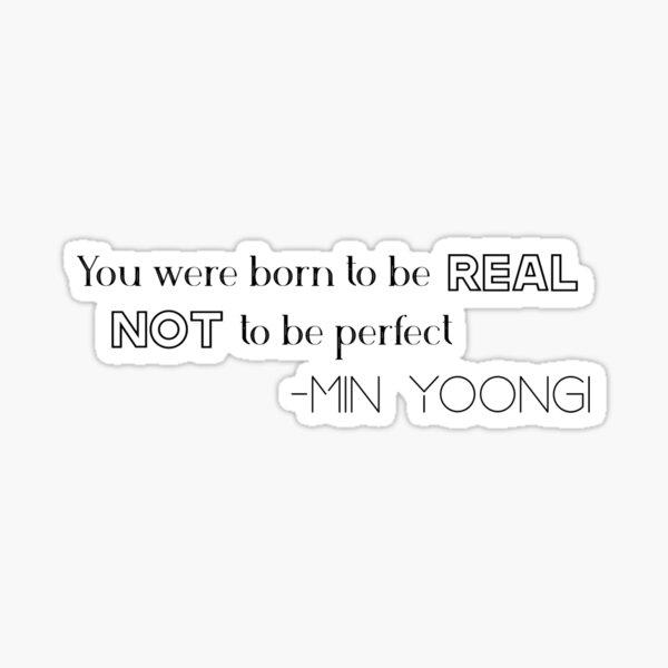 Min Yoongi Quote Sticker