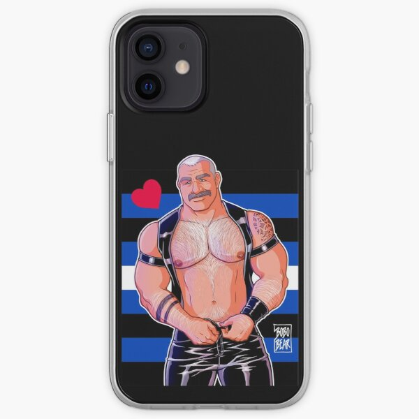 DADDY LIKES LEATHER - LEATHER PRIDE FLAG iPhone Soft Case