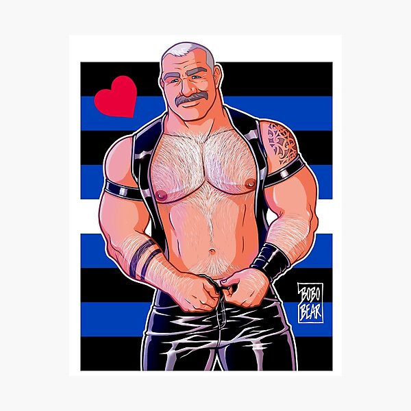 DADDY LIKES LEATHER - LEATHER PRIDE FLAG Photographic Print
