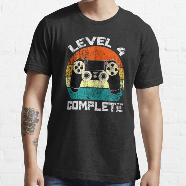 Level 4 Complete funny birthday Gift Essential T-Shirt