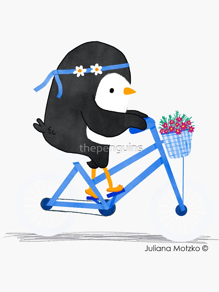 Penguin on a Bike by thepenguins