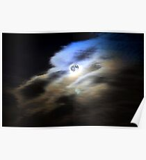Canis Lupus Full Moon Poster