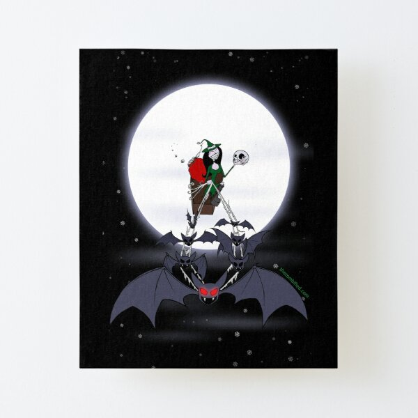 Scary Christmas by The Zombified Canvas Mounted Print