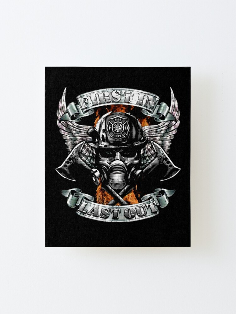 Alternate view of Firefighters Mounted Print