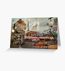 Street corner, Chiang Mai Thailand Greeting Card