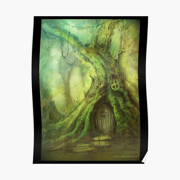 Moss Covered Treehouse Poster