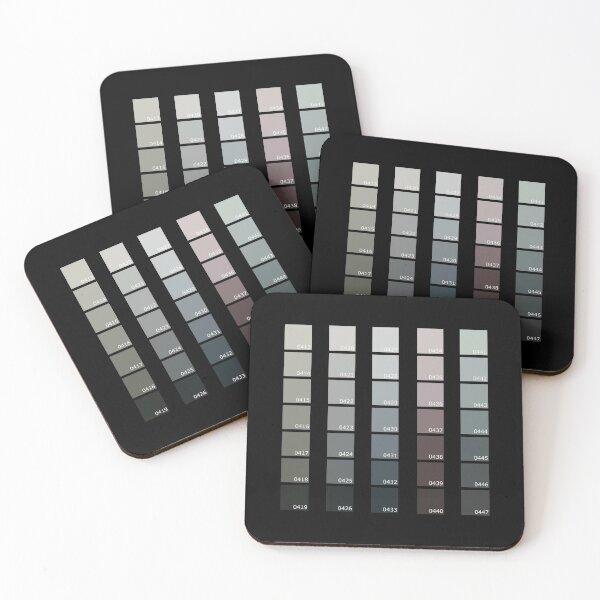 Shades of Grey Pantone Coasters (Set of 4)