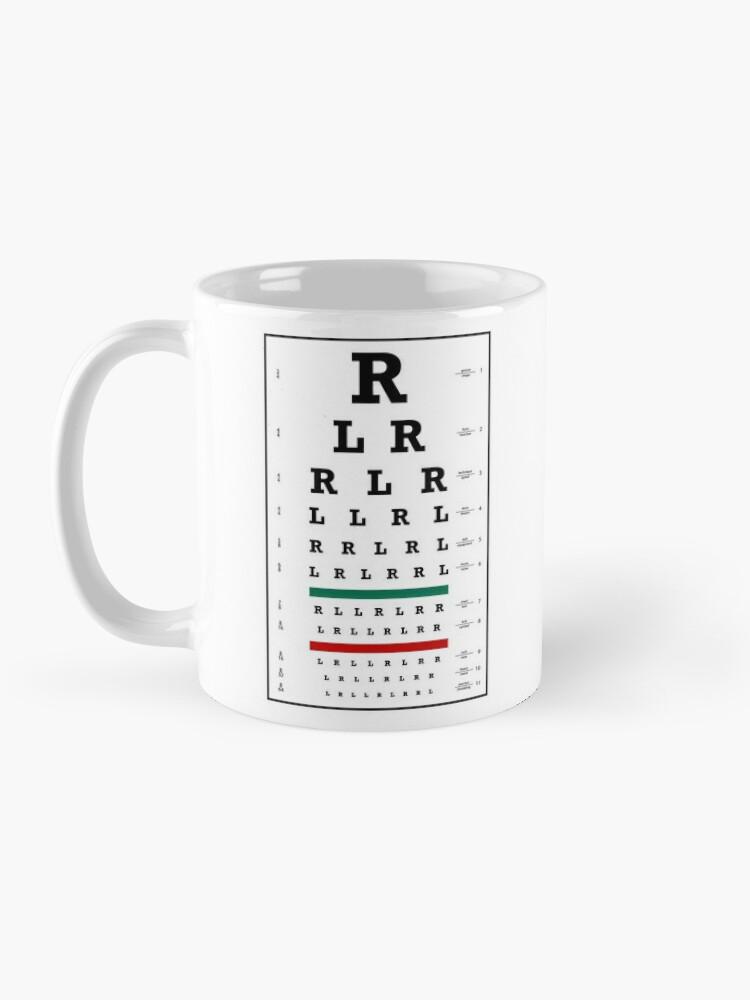 Alternate view of Drummers Eye Chart Mug