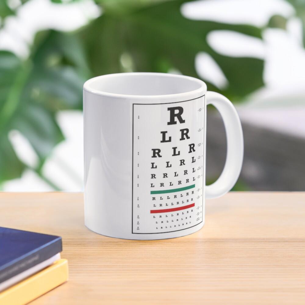 Drummers Eye Chart Mug