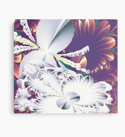 """""""Fractal Flowers"""" Metal Print"""
