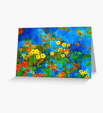 Flowering glade Greeting Card