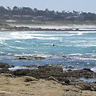 Kayack in the Surf by Sandra Gray