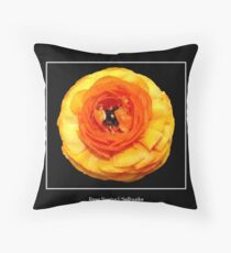 Beautiful Orange Flower Throw Pillow