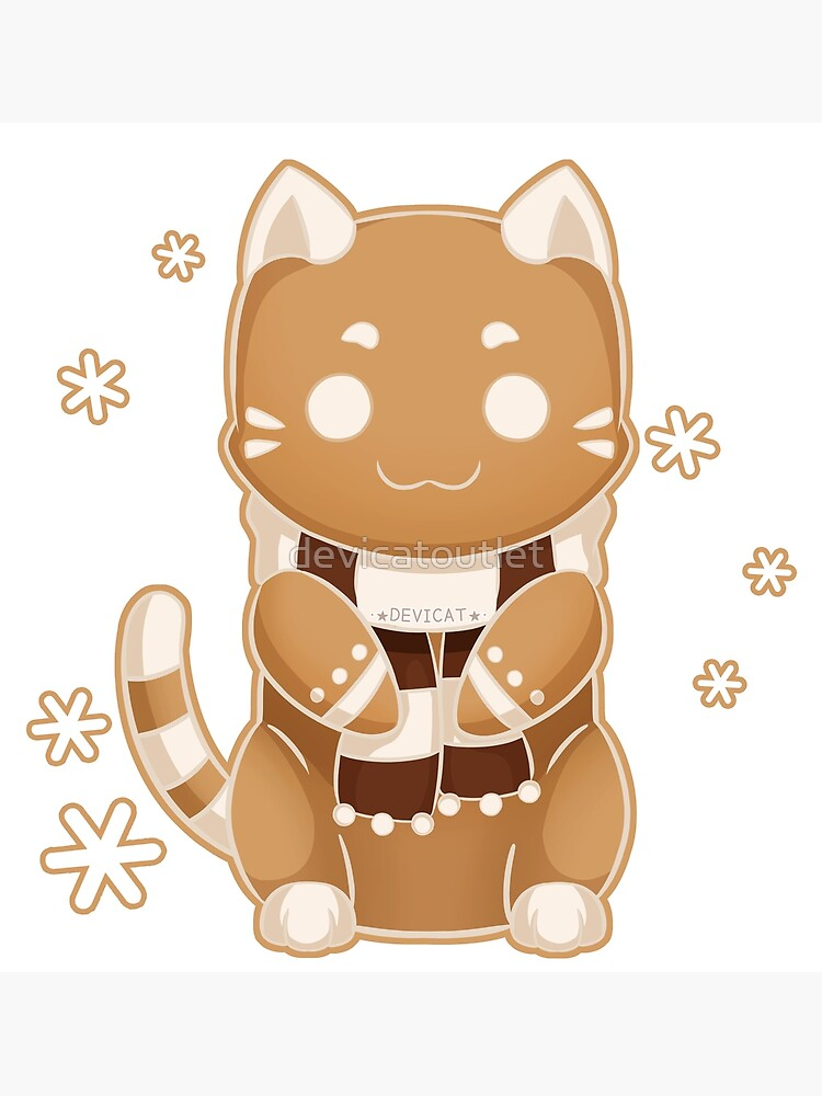 Gingerbread Cat Cookie - 2019 by devicatoutlet