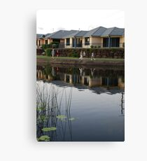 Reflecting on Suburbia Canvas Print