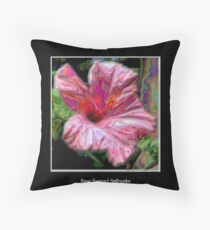 Pink Hibiscus with Enamel Special Effect Throw Pillow