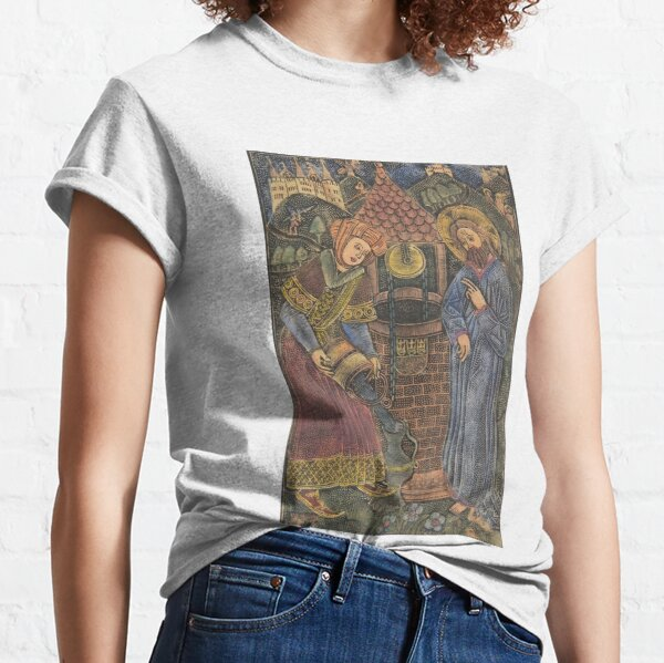 Jesus Christ and the Woman of Samaria 1460-70 art Germany  Classic T-Shirt