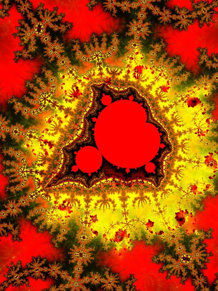 Red Mandelbrot II by rupertrussell