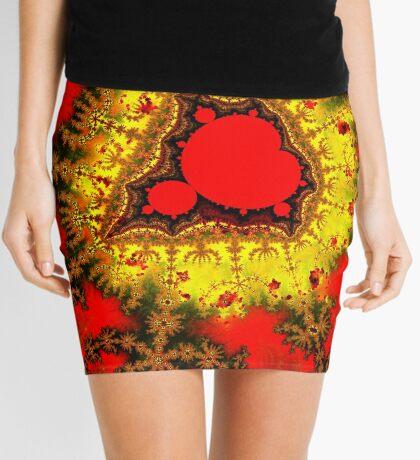 Red Mandelbrot II Mini Skirt
