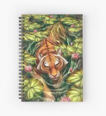 Tigre dans les Lillies Cahier à spirale