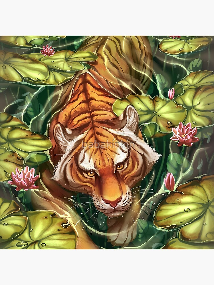 Tiger in the Lillies by babakinkin