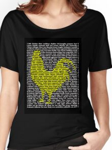"""'The Year Of The Rooster / Cockerel"""" Clothing Women's Relaxed Fit T-Shirt"""