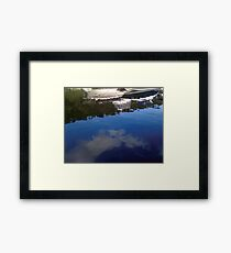 Boat Reflections Framed Print