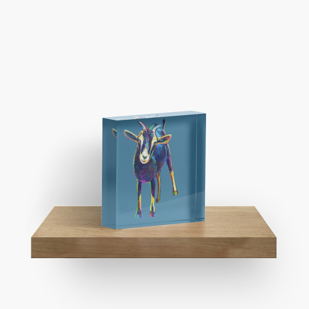 Gertie the Goat, Star of the Show Acrylic Block