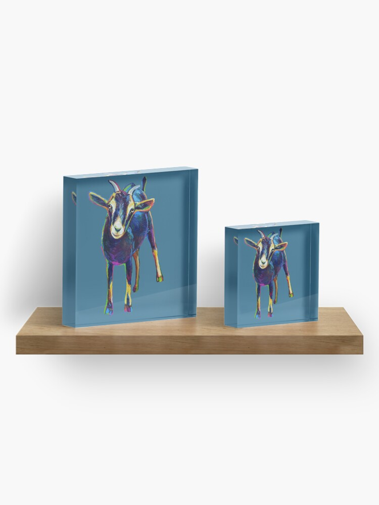 Alternate view of Gertie the Goat, Star of the Show Acrylic Block
