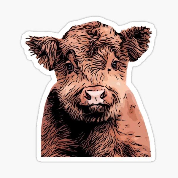 baby cow Sticker