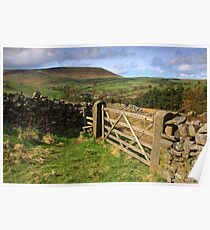 Five bar gate and Pendle hill Poster