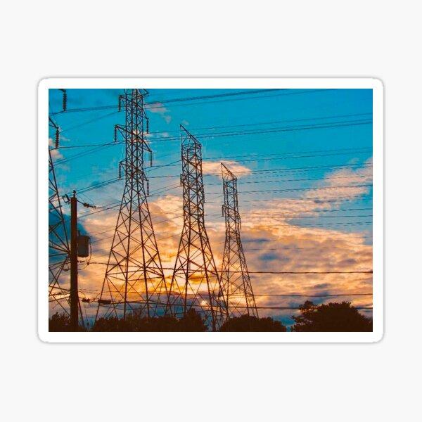 Power Sunset Sticker