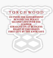Torchwood Parody Sticker