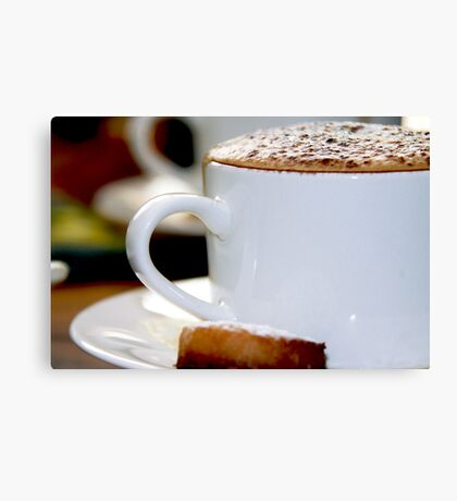 Cappuccino Time Canvas Print