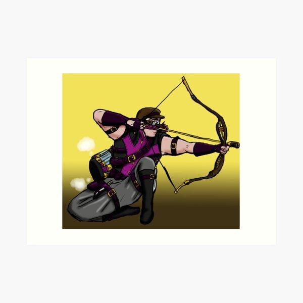 Steampunk archer Art Print