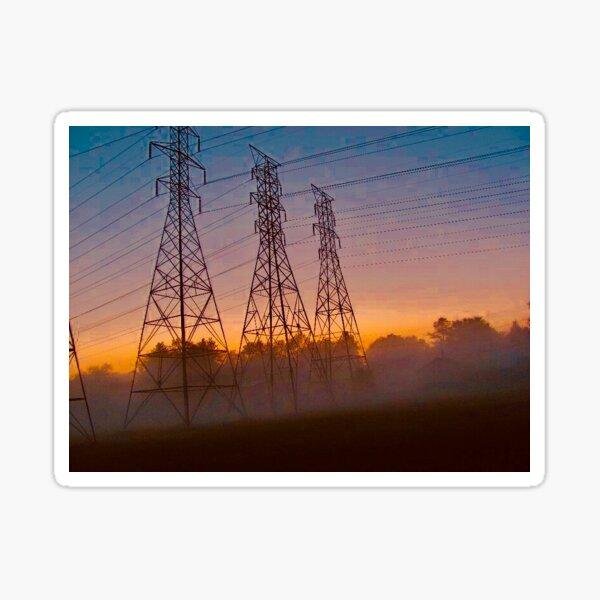 Smoky Powerlines Sticker