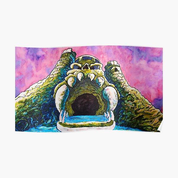 Castle Grayskull watercolor painting Poster