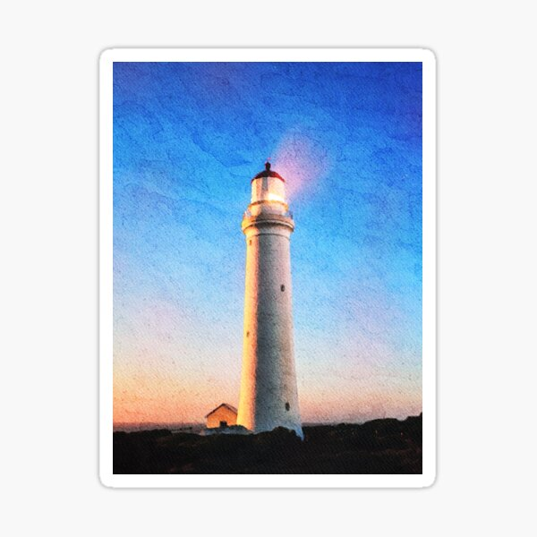 Cape Nelson Lighthouse Australia Watercolor Painting  Sticker