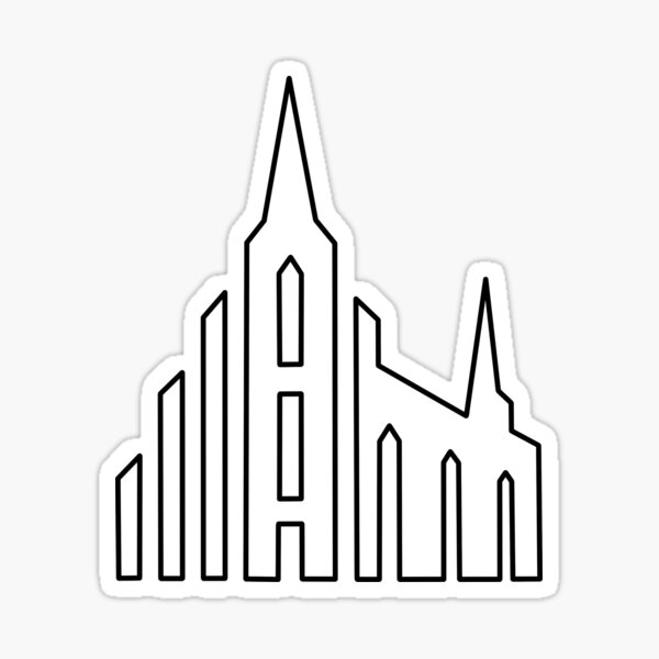 LDS Strive To Be Temple Outline Sticker